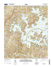 Buford Dam Georgia Current topographic map, 1:24000 scale, 7.5 X 7.5 Minute, Year 2014 from Georgia Maps Store