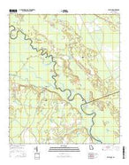 Bug Island Georgia Current topographic map, 1:24000 scale, 7.5 X 7.5 Minute, Year 2014 from Georgia Map Store