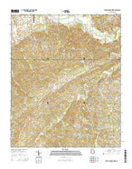 Burnt Hickory Ridge Georgia Current topographic map, 1:24000 scale, 7.5 X 7.5 Minute, Year 2014 from Georgia Map Store