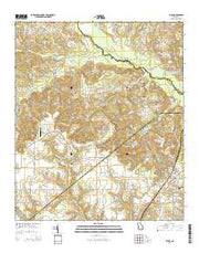 Byron Georgia Current topographic map, 1:24000 scale, 7.5 X 7.5 Minute, Year 2014 from Georgia Maps Store