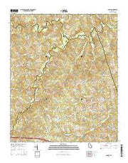 Cadley Georgia Current topographic map, 1:24000 scale, 7.5 X 7.5 Minute, Year 2014 from Georgia Maps Store