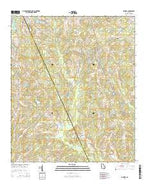 Cadwell Georgia Current topographic map, 1:24000 scale, 7.5 X 7.5 Minute, Year 2014 from Georgia Map Store