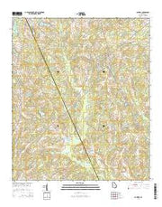 Cadwell Georgia Current topographic map, 1:24000 scale, 7.5 X 7.5 Minute, Year 2014 from Georgia Maps Store