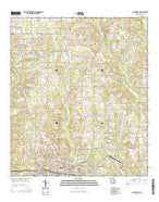 Cairo North Georgia Current topographic map, 1:24000 scale, 7.5 X 7.5 Minute, Year 2014 from Georgia Map Store