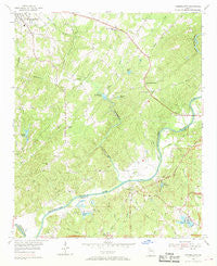 Campbellton Georgia Historical topographic map, 1:24000 scale, 7.5 X 7.5 Minute, Year 1954