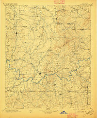 Cartersville Georgia Historical topographic map, 1:125000 scale, 30 X 30 Minute, Year 1896