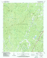 Cashes Valley Georgia Historical topographic map, 1:24000 scale, 7.5 X 7.5 Minute, Year 1988