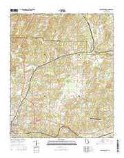 Cedartown East Georgia Current topographic map, 1:24000 scale, 7.5 X 7.5 Minute, Year 2014 from Georgia Maps Store