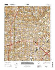 Chamblee Georgia Current topographic map, 1:24000 scale, 7.5 X 7.5 Minute, Year 2014 from Georgia Maps Store