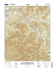 Coosa Bald Georgia Current topographic map, 1:24000 scale, 7.5 X 7.5 Minute, Year 2014 from Georgia Maps Store