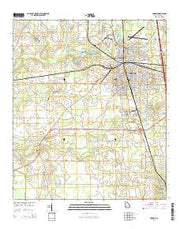 Cordele Georgia Current topographic map, 1:24000 scale, 7.5 X 7.5 Minute, Year 2014 from Georgia Maps Store