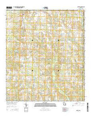 Cotton Georgia Current topographic map, 1:24000 scale, 7.5 X 7.5 Minute, Year 2014 from Georgia Maps Store