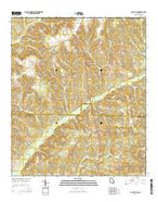 County Line Georgia Current topographic map, 1:24000 scale, 7.5 X 7.5 Minute, Year 2014 from Georgia Map Store