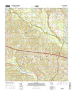 Covena Georgia Current topographic map, 1:24000 scale, 7.5 X 7.5 Minute, Year 2014 from Georgia Map Store