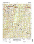 Covington Georgia Current topographic map, 1:24000 scale, 7.5 X 7.5 Minute, Year 2014 from Georgia Map Store