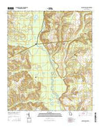 Cow Hell Swamp Georgia Current topographic map, 1:24000 scale, 7.5 X 7.5 Minute, Year 2014 from Georgia Map Store