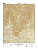 Cowrock Georgia Current topographic map, 1:24000 scale, 7.5 X 7.5 Minute, Year 2014 from Georgia Map Store