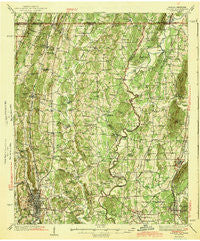 Dalton Georgia Historical topographic map, 1:62500 scale, 15 X 15 Minute, Year 1943