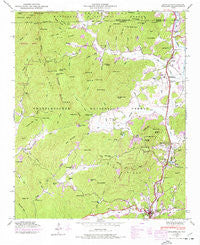 Dillard Georgia Historical topographic map, 1:24000 scale, 7.5 X 7.5 Minute, Year 1946