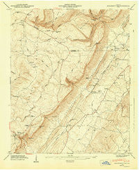 Dougherty Gap Georgia Historical topographic map, 1:24000 scale, 7.5 X 7.5 Minute, Year 1947