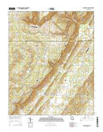 Dougherty Gap Georgia Current topographic map, 1:24000 scale, 7.5 X 7.5 Minute, Year 2014 from Georgia Map Store