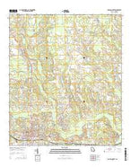 Douglas North Georgia Current topographic map, 1:24000 scale, 7.5 X 7.5 Minute, Year 2014 from Georgia Map Store