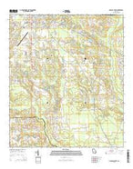 Douglas South Georgia Current topographic map, 1:24000 scale, 7.5 X 7.5 Minute, Year 2014 from Georgia Map Store