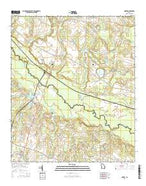 Dover Georgia Current topographic map, 1:24000 scale, 7.5 X 7.5 Minute, Year 2014 from Georgia Map Store