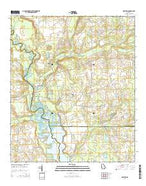 Drayton Georgia Current topographic map, 1:24000 scale, 7.5 X 7.5 Minute, Year 2014 from Georgia Map Store