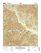 Dry Branch Georgia Current topographic map, 1:24000 scale, 7.5 X 7.5 Minute, Year 2014 from Georgia Map Store