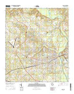 Dublin Georgia Current topographic map, 1:24000 scale, 7.5 X 7.5 Minute, Year 2014 from Georgia Map Store