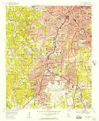 East Point Georgia Historical topographic map, 1:24000 scale, 7.5 X 7.5 Minute, Year 1954