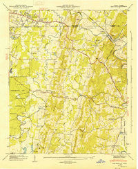 East Ridge Tennessee Historical topographic map, 1:24000 scale, 7.5 X 7.5 Minute, Year 1946