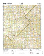 Empire Georgia Current topographic map, 1:24000 scale, 7.5 X 7.5 Minute, Year 2014 from Georgia Map Store