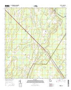 Everett Georgia Current topographic map, 1:24000 scale, 7.5 X 7.5 Minute, Year 2014 from Georgia Map Store