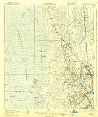 Folkston Georgia Historical topographic map, 1:62500 scale, 15 X 15 Minute, Year 1918