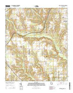 Fort Valley East Georgia Current topographic map, 1:24000 scale, 7.5 X 7.5 Minute, Year 2014 from Georgia Map Store