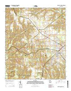 Fort Valley West Georgia Current topographic map, 1:24000 scale, 7.5 X 7.5 Minute, Year 2014 from Georgia Map Store