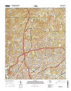 Fortson Georgia Current topographic map, 1:24000 scale, 7.5 X 7.5 Minute, Year 2014 from Georgia Map Store