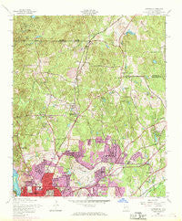 Fortson Georgia Historical topographic map, 1:24000 scale, 7.5 X 7.5 Minute, Year 1955