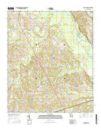 Four Points Georgia Current topographic map, 1:24000 scale, 7.5 X 7.5 Minute, Year 2014 from Georgia Map Store