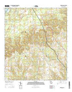 Fowlstown Georgia Current topographic map, 1:24000 scale, 7.5 X 7.5 Minute, Year 2014 from Georgia Map Store