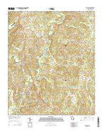 Franklin Georgia Current topographic map, 1:24000 scale, 7.5 X 7.5 Minute, Year 2014 from Georgia Map Store
