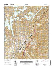 Gainesville Georgia Current topographic map, 1:24000 scale, 7.5 X 7.5 Minute, Year 2014 from Georgia Maps Store
