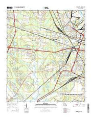 Garden City Georgia Current topographic map, 1:24000 scale, 7.5 X 7.5 Minute, Year 2014 from Georgia Maps Store