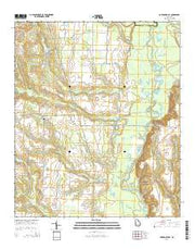 Garden Valley Georgia Current topographic map, 1:24000 scale, 7.5 X 7.5 Minute, Year 2014 from Georgia Maps Store