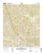 Garfield Georgia Current topographic map, 1:24000 scale, 7.5 X 7.5 Minute, Year 2014 from Georgia Map Store
