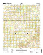 Gee Pond Georgia Current topographic map, 1:24000 scale, 7.5 X 7.5 Minute, Year 2014 from Georgia Map Store