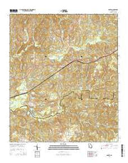 Geneva Georgia Current topographic map, 1:24000 scale, 7.5 X 7.5 Minute, Year 2014 from Georgia Maps Store