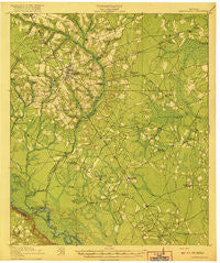 Glennville Georgia Historical topographic map, 1:62500 scale, 15 X 15 Minute, Year 1920